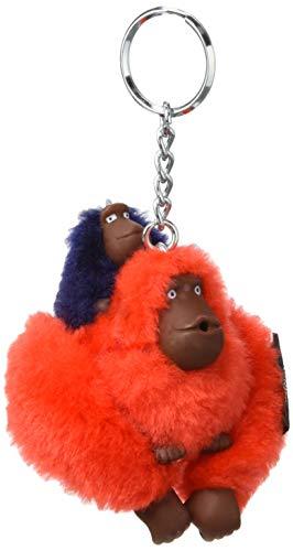 Kipling Monkeyclip Bm(10) - Portachiavi ad anello e catena Donna, Rosso (Active Red/Bl)