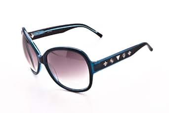 Guess Damen Sonnenbrille black / light blue GU6369-BL-35