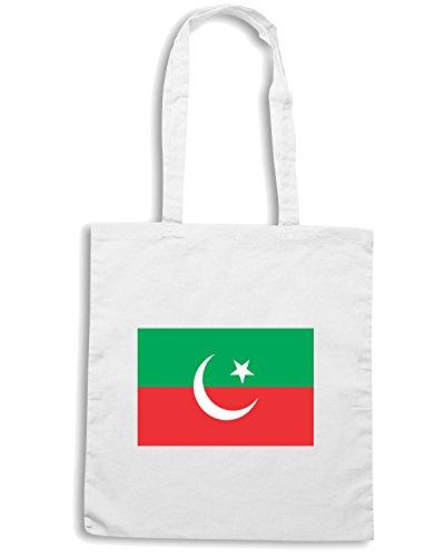 T-Shirtshock - Borsa Shopping TM0219 Pakistan Tehreek-e-Insaf flag Bianco
