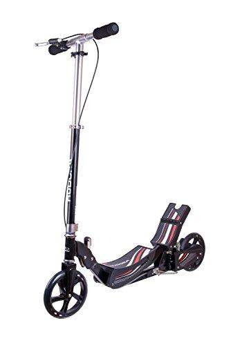 HUDORA Wipp Scooter Race Tret-Roller - 14994, schwarz