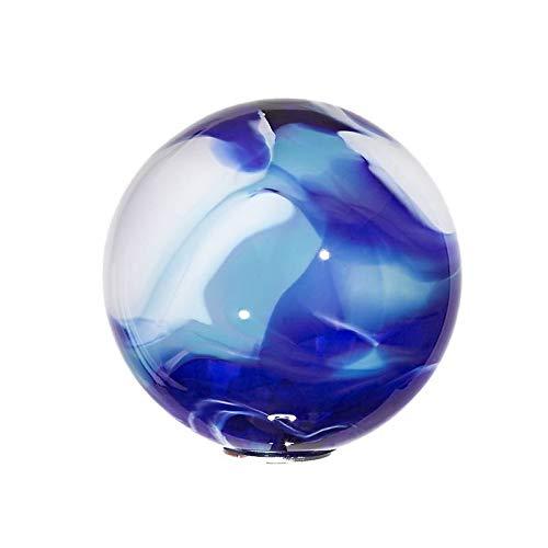 Cristalica Gartenkugel Glas Kugel klein Gartendeko Design 7 Blau 13 cm inkl. Stab