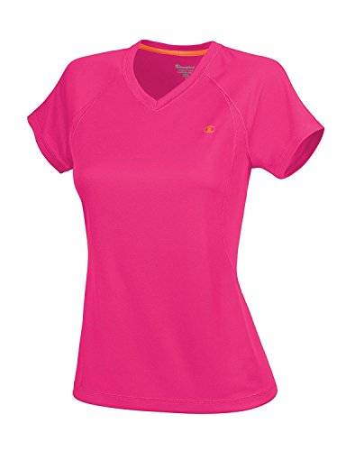 Champion Women's Training Tee, Fiji Pink/Koi Orange, Large (Koi-womens Tee)