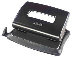 Herlitz 1610492 Bürolocher 1,6mm mit Anschlag. Schwarz Metall