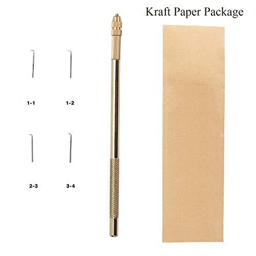 Häkeln Nadel für Haarextensions Hair Extension Haken Holder Mit 4 Größe Nadeln