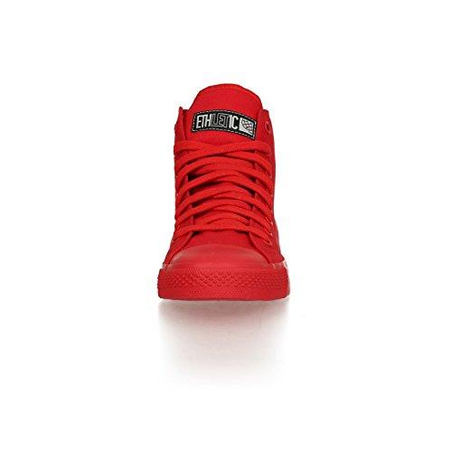 Ethletic Sneaker Monochrom vegan HiCut - Farbe cranberry aus Bio-Baumwolle Größe 40 - 6