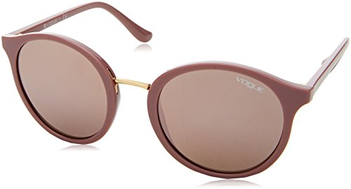 Vogue Eyewear Damen 0VO5166S 25655R 51 Sonnenbrille, Antique Pink/Darkbrownmirrorpink