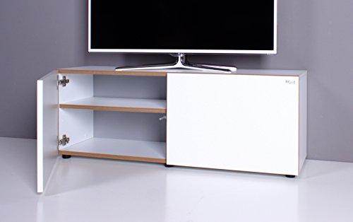 Lowboard / TV-Bank NOOMO weiß / weiß Hochglanz - 2