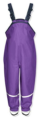 Playshoes Mädchen Regenhose Regenlatzhose mit Textilfutter, Gr. 128, Violett (lila 19)
