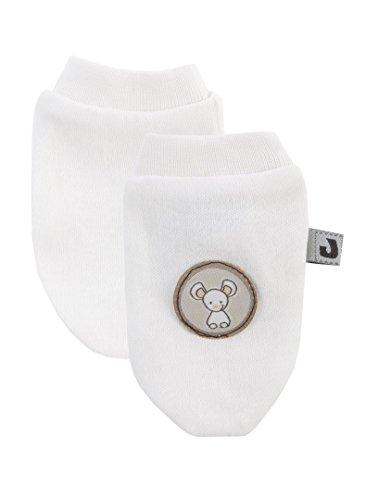 Jacky unisex Baby Kratzfäustlinge, 100% Baumwolle, Off White, Jacky Elephant, Gr. OneSize, 314100