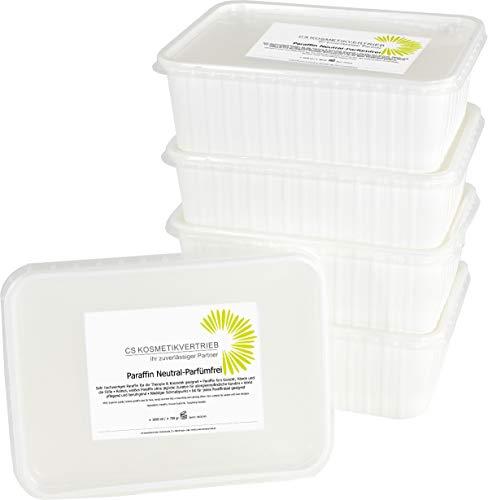 Paraffinwachs für das Paraffinbad Parfümfrei- Natural im Set 12x 1000ml 750g - 9kg zum nachfüllen