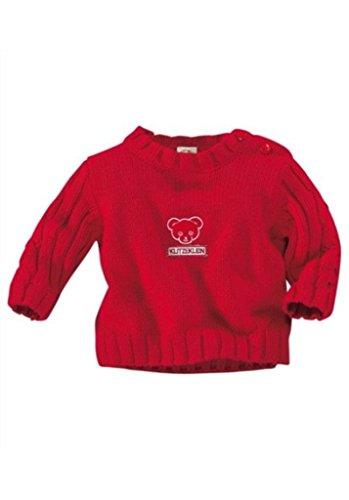 KLITZEKLEIN Klitzeklein Pullover, für Babys rot Klitzeklein Strickpullover mit Bärenapplikation