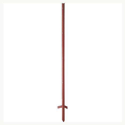Piquet corniére 1,50 m, tete renforcée3 mm, laqué rouge, avec beche soudée, les 10 - 107210