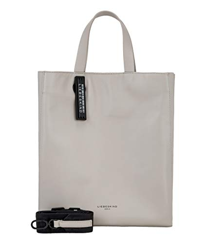 Liebeskind Berlin Damen Paper Bag - Tote Medium Henkeltasche, Grau (String Grey), 15x34x29 cm -