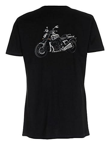 HAVENROCKER T-Shirt mit Knopfleiste Yama. V-Max 2009 Vmax, V Max Gr. S - 2XL, Druck auf der Rückseite