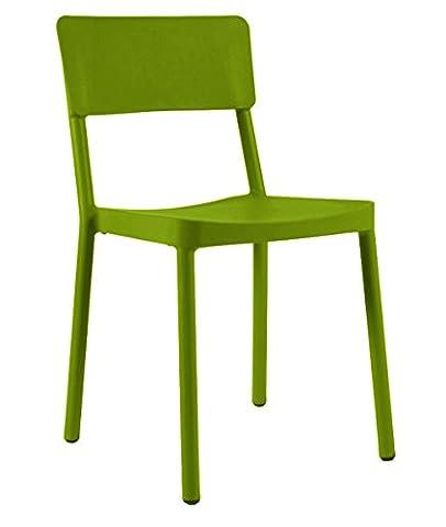 Resol chaise Lisboa - couleur vert olive, set de 2 unités