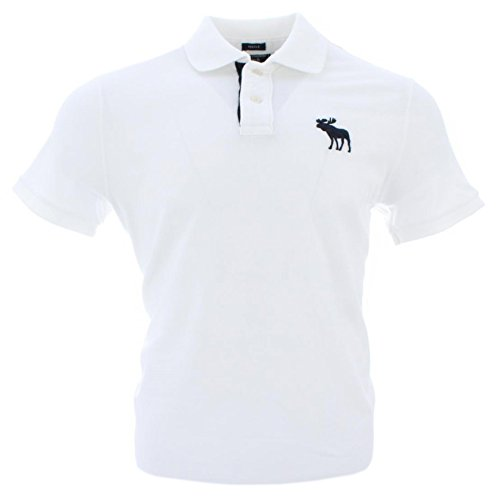 abercrombie-fitch-herren-kurzarm-polo-weiss-navy-logo-muscle-m
