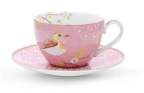 PiP Studio Cappuccino Tasse mit Untertasse | Pink - 280 ml
