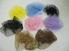 Sleep-in Lot de filets de nuit pour cheveux 2 roses/ 2 bruns/ 2 jaunes