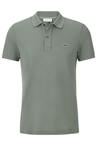 Lacoste PH4012 Herren Polo Shirt Kurzarm,Männer Polo-Hemd,2 Knopf,Slim Fit,Grassy(307),X-Small (2)