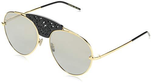 Pomellato pm0033s 002 occhiali da sole, oro (002-gold/silver), 59 donna