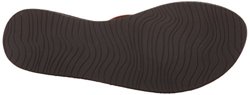 Reef - Leather Uptown, Sandali infradito Donna Marrone (cioccolato)