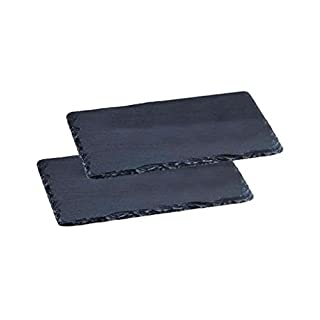 Asteus 1 Paar Schieferplatten, Schwarz