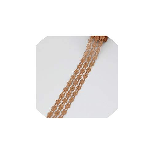 (5 Yards/Rolle) 25mm Spitzegewebe Gurtbänder Dekoration Liebe Geschenkverpackung Material Blume weißer Schnürsenkel, Brown -