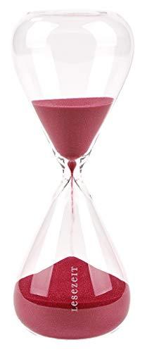 Moses. libri_x Sanduhr-Lesezeit | Stundenglas mit 30 Minuten Laufzeit | Dekoobjekt aus Glas, rot, Uni
