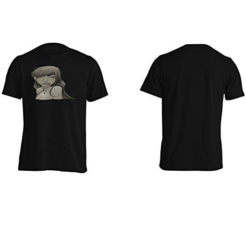 Colori scuri della sirena Uomo T-shirt h148m Black