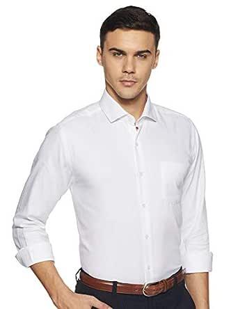 Diverse Men's Solid Slim Fit Cotton Formal Shirt (DVF06F2L01-8-39_White)