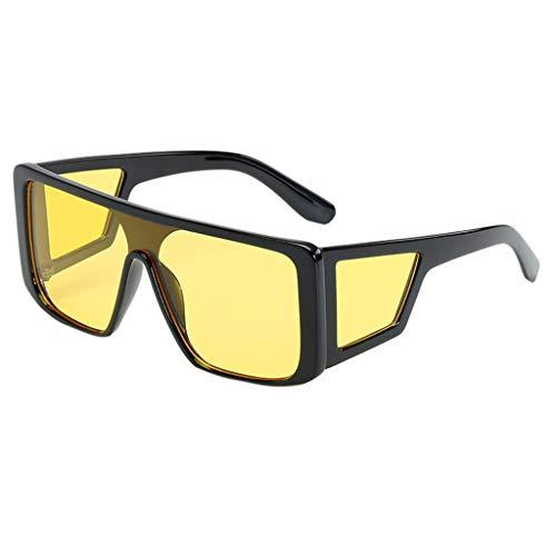 HEETEY Sonnenbrillen Polarisiert Unisex Brille Slim Rechteck Nerd Clear Brille丨Vintage Unisex Brille丨Kohlefasertempel mit klassisch rechteckig polarisierten Metallrahmen Sonnenbrille
