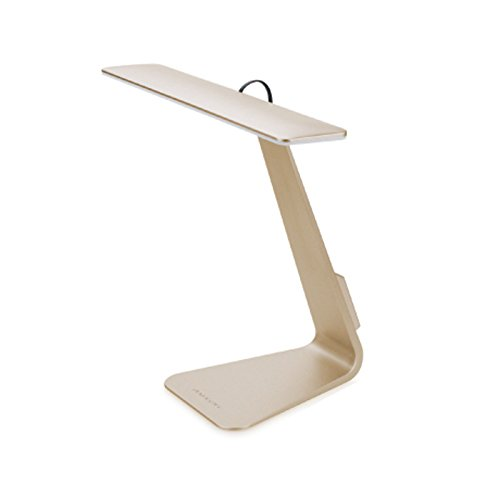 Vansuky LED lámpara de mesa recargable (800mA), Touch Control 3 niveles regulable ajustable domicilio LED Base de aluminio + ABS cortina luces de mesa de escritorio de lectura lámpara USB carga, diseño elegante para el hogar y decoración de la oficina, delgada 5mm. (Gloden)