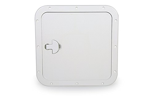 Inspektionsluke Quadratisch 380 x 380 mm weiß Decksluke Bootsluke Luke