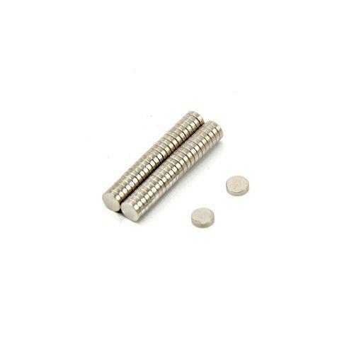 Magnet Expert 4mm dia x 1mm thick N42 Neodymium Magnet - 0.25kg Pull (Pack of 50)