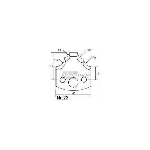 Edessö Profilmesser und Abweiser P22, Art.Nr.:1560P022P (Art P22)
