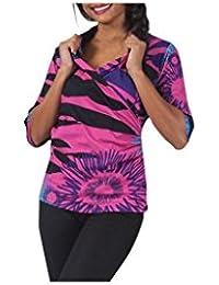 Aller Simplement - T-shirt en coton à manches 3/4 effet cache coeur Aller Simplement TS6301