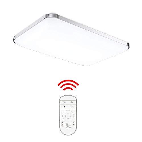 HENGDA 48W LED Deckenleuchte Dimmbar Es Hat Memory Funktion Deckenlampe Wohnzimmer Bad Küche Panel Leuchte 2700-6500K