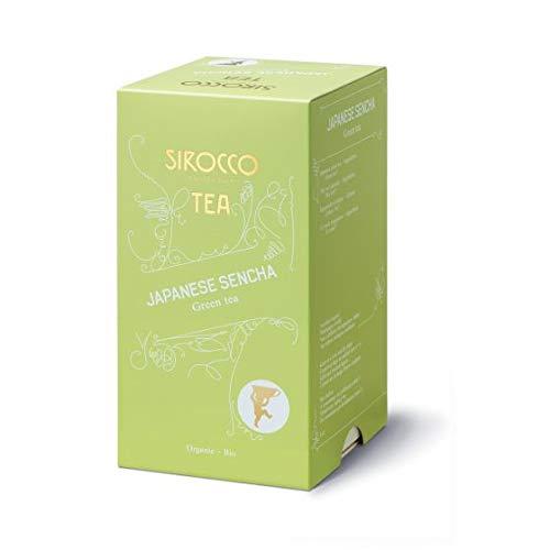SIROCCO TEE - JAPANESE SENCHA Japanischer Organisches Grüntee - 20 Teebeutel (Marokko-minze-grüner Tee)