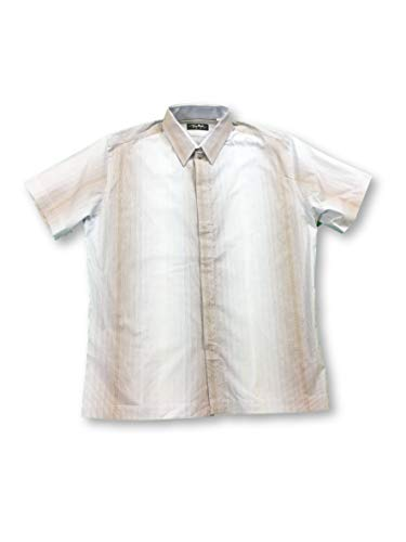 Preisvergleich Produktbild Thierry Mugler Shirt in White with Blue / Brown Pencil Stripe - 16.5