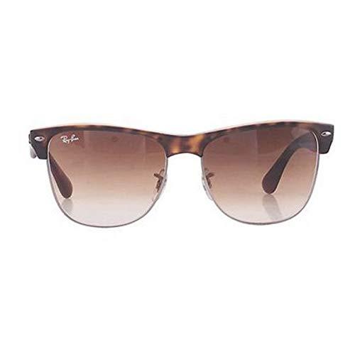 Ray-Ban Schildkröte Hellbraun Gradient 57mm CLUBMASTER Übergroße Sonnenbrille Clubmaster