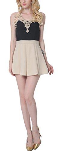 SunIfSnow - Robe spécial grossesse - Ajourée - Uni - Sans Manche - Femme abricot