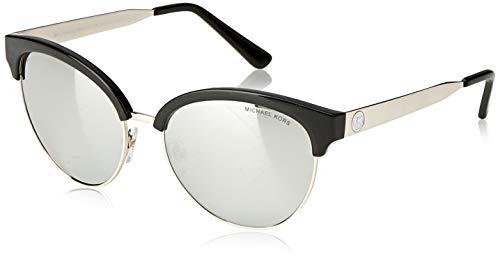 Michael Kors Damen AMALFI 3338Z3 56 Sonnenbrille, Black/Silvermirrorpolarized,