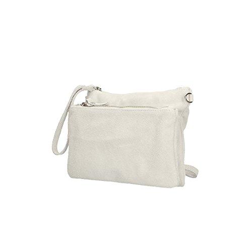 Chicca Borse Borsa a tracolla in pelle 24 x 17 x 4 100% Genuine Leather Bianco El Envío Libre De Calidad Para La Venta Envío Libre Precio Más Barato PB14jx