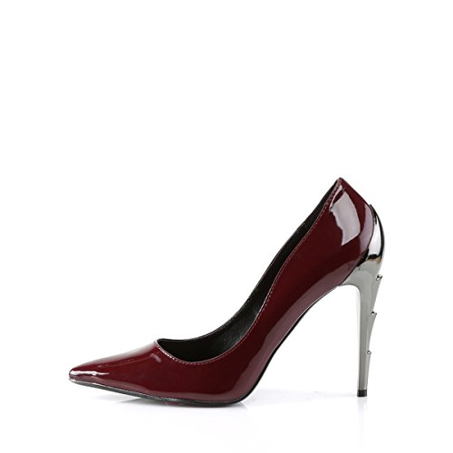 Demonia Vegan High Heel Pumps Voltage-01 Lack burgundy