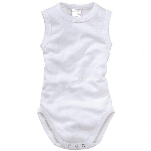 wellyou, Baby-Body Kinder-Body ohne Arm, klassisch weiß, ärmellos für Jungen und Mädchen, Feinripp 100% Baumwolle, Größe 50-134 ...