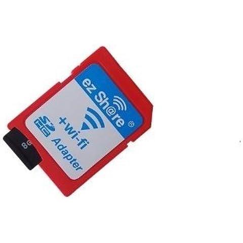Adaptador de tarjeta de memoria SD WiFi disponible para DC / DV / DSLR / DPF, etc ...