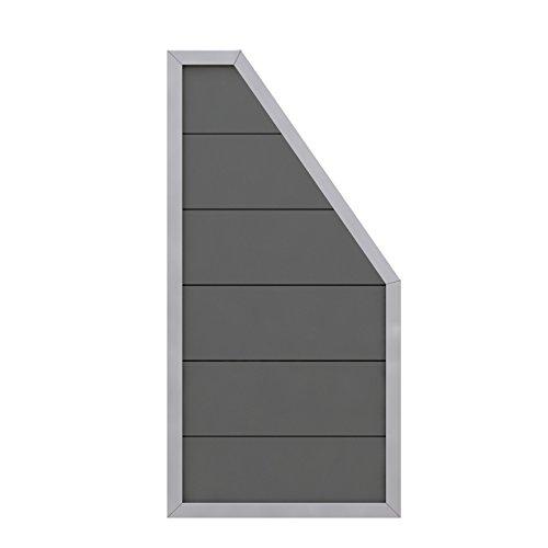 Preisvergleich Produktbild Sichtschutzzaun Design WPC Alu Anschlussteil anthrazit 90x180 / 90cm