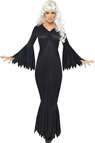 (Damen Mitternachts Vamp Plus gratis Vampir Zähnen Halloween Kostüm Größe S Passend für 8 bis 10)