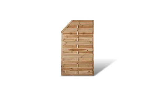 """Günstiges Sichtschutzzaun / Zaun Element Maße 90 x 150 auf 120 cm (Breite x Höhe) aus Kiefer/Fichte Holz, druckimprägniert \""""Berlin\"""" Massiv II"""
