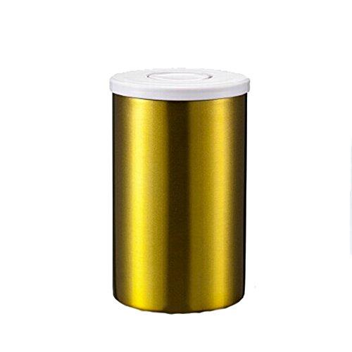 ufengke®150g Boîte à café hermétique étanche en acier inox pour la conservation du café, d'or